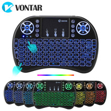VONTAR i8 clavier sans fil russe anglais hébreu Version i8 + 2.4GHz Air souris pavé tactile portable pour Android TV BOX Mini PC(China)