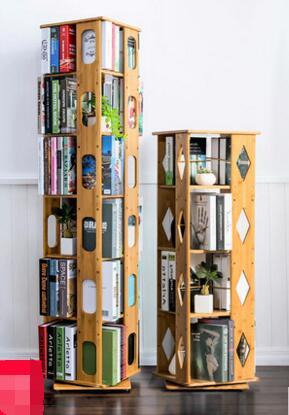 Kinder Bücherregal 360 grad umdrehung einfache bücherregale mehrgeschossigen boden