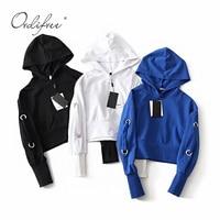 Ordifree Harajuku 2019 Autumn Streetwear Women Crop Hoodie Hooded Sweatshirt Hip Hop Fahion Casual Hoodies