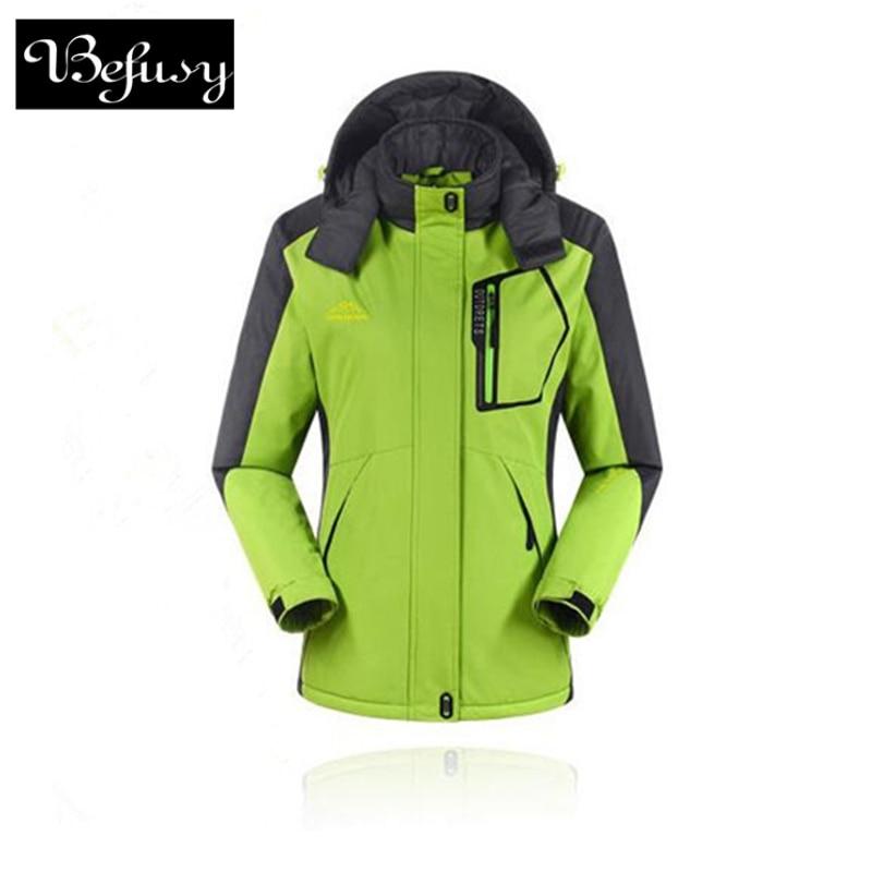 Xhaketa skish dimri për gra me cilësi të lartë Gjuetia në natyrë Ndalesa e erës në skive që ngjiten në dëborë Snowboarding xhaketa sportive të papërshkueshëm nga uji