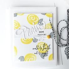 YaMinSanNiO Praise Letter Dies Word Metal Cutting New 2019 for Craft Scrapbooking Album Embossing Die Cut Decoration