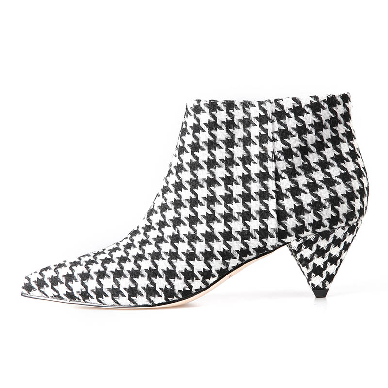 2019 hot new spring and autumn style womens shoes, low-heeled boots, comfortable leather, elegant party plaid bird pattern2019 hot new spring and autumn style womens shoes, low-heeled boots, comfortable leather, elegant party plaid bird pattern