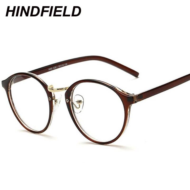Heißer Verkauf Gefälschte Runde Brille Frauen Klare Brille Frame ...