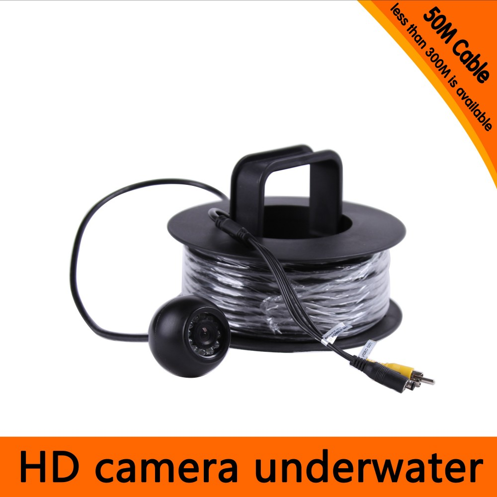 50Meters Depth Underwater Camera with Cable Rolls 12PCS white LEDS and Leds Adjustable for Fish Finder & Diving Camera free shipping 30meters depth underwater camera with 8pcs white leds