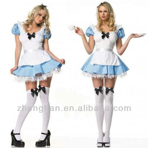 Free Shipping 8329 Alice In Wonderland Fancy Dress Costume Outfit