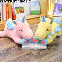 High quality Embroidery Unicorn Plush Toys Animal Stuffed Toys Children's Toys Appease Pillow Home Decor Gifts