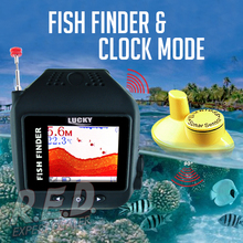FF-518 LUCKY Waterproof Watch Type Fish Finder Colored Screen Wireless Sensor Fishfinder Clock Mode Built-in Battery