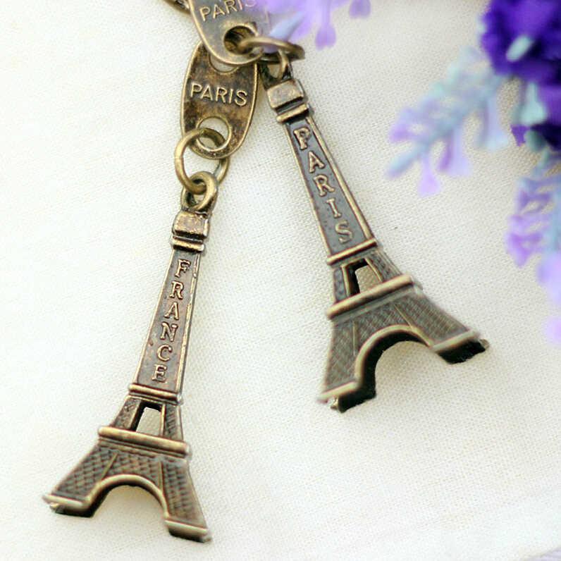 2018 promoción Clef Torre Eiffel llavero llaves recuerdos París Tour cadena anillo decoración llavero regalos para mujeres