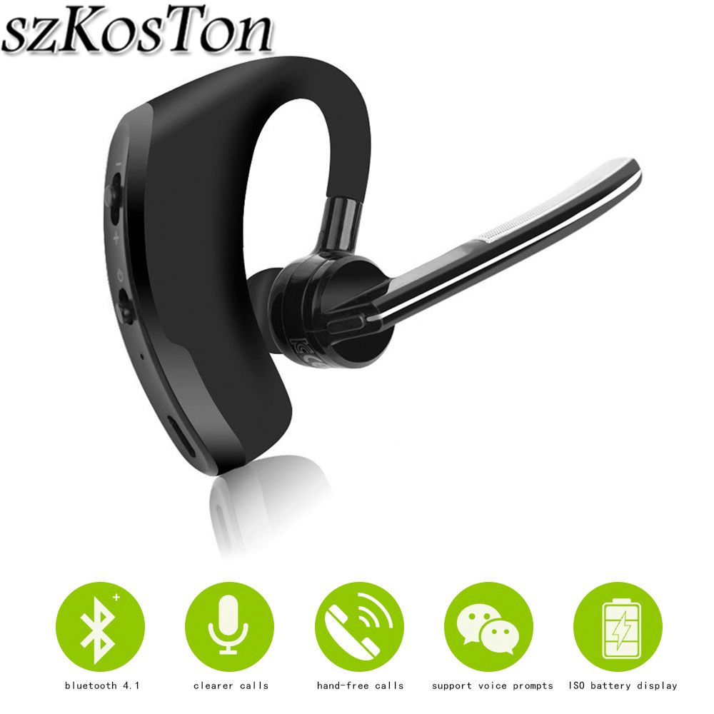 Original Business Bluetooth headset Noise Cancelling Voice Control Wireless Headphone Driver Sport Earphone for iPhone Android Наушники