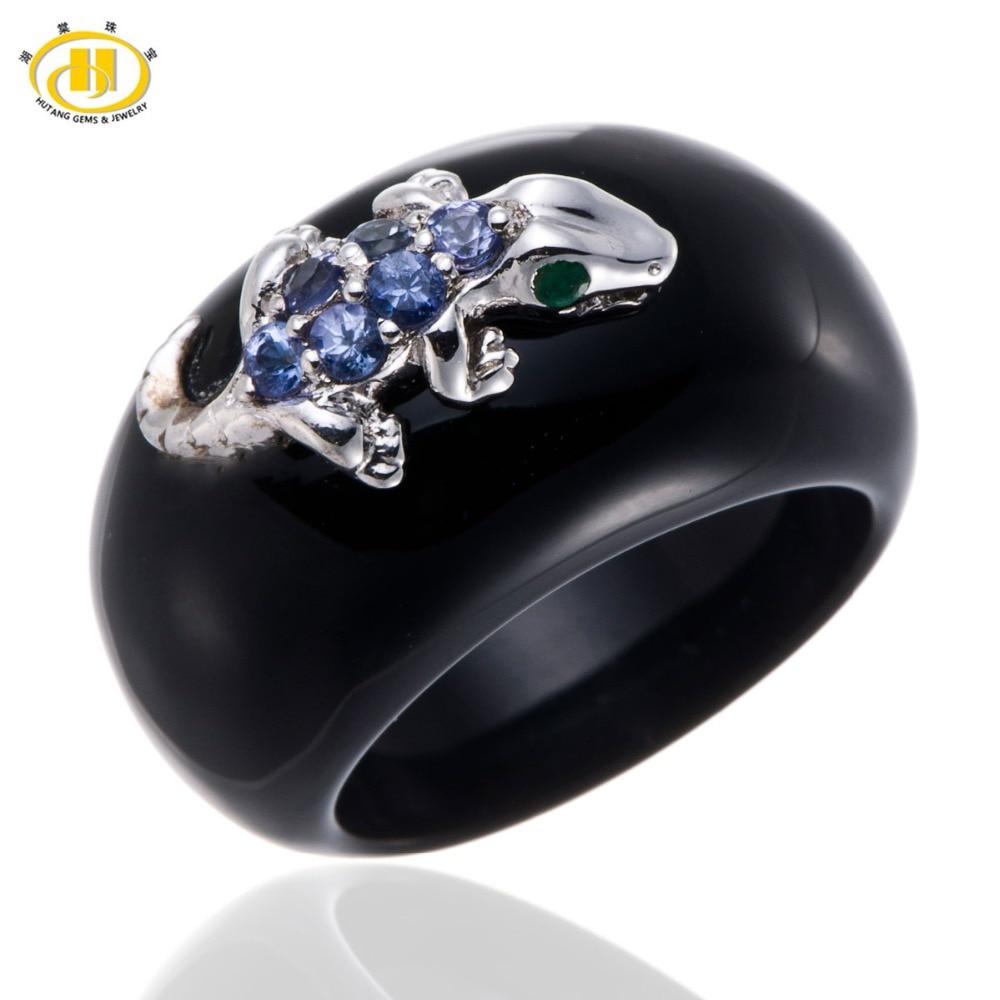 ᐃHutang Unique Design Tanzanite & Emerald 925 Sterling Silver ...