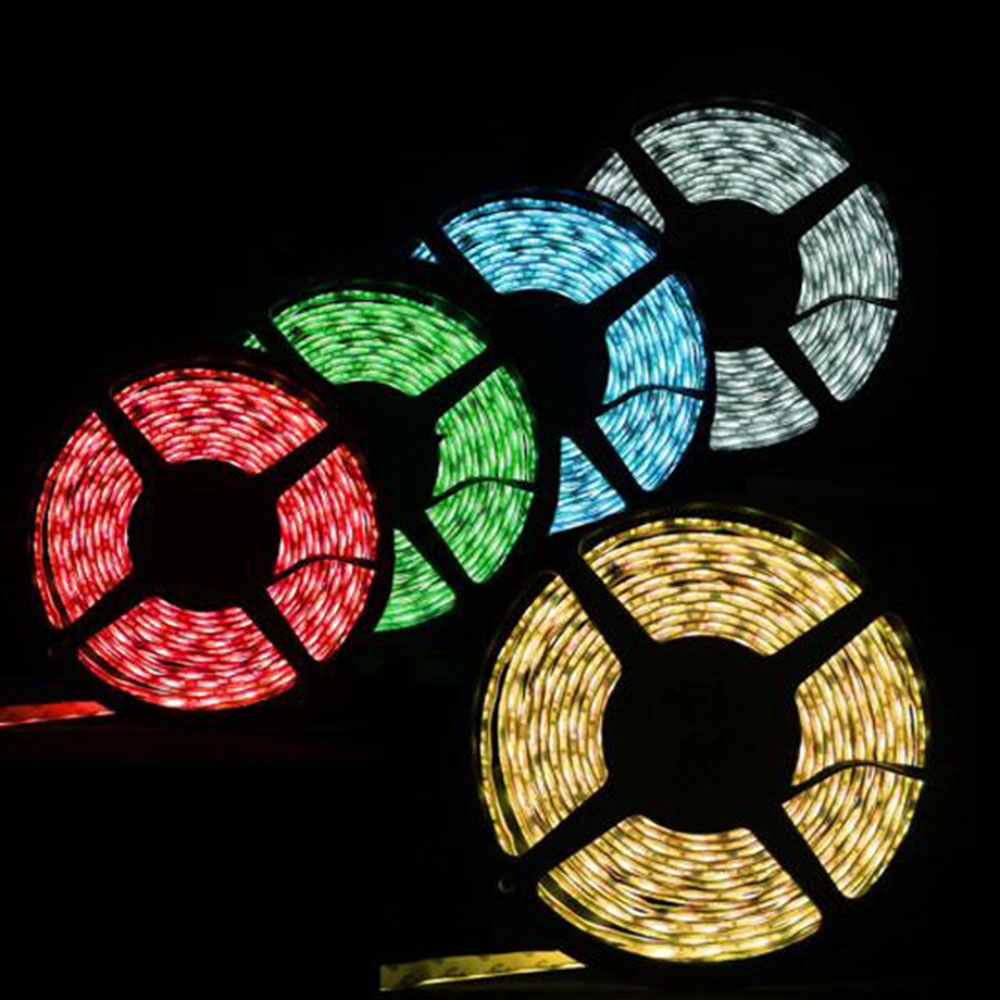 DC12V SMD3528 RGB LED strip ribbon 5M300LED roof bar counter decorative lamp White/Warm White/Red/Green/Blue Multi color