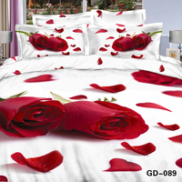 hot red rose flower petal 3d printed bedding egyptian cotton duvet cover 1pc for girl's bedroom decor romantic wedding bedspread