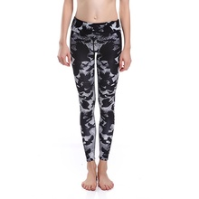 Sexy Women Slim Mysterious Bats Yoga Pants Leggings Elastic Slim Sports Tights Quick drying Breathable Fitness