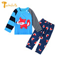 TWINSBELLA Baby Clothing Set Spring Autumn Kids Clothes Sets Cartoon Fox Long sleeve Shirts+Pants Suits Children Outwear