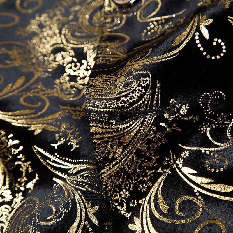 Блейзер большого размера мужской костюм с китайским воротником мужской весенний и летний высококачественный фланелевый костюм властная личность узор - 3