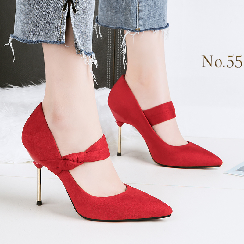 Urworthit 2018 Woman Fetish 9cm High Heels Lolita Mary Janes Pumps Classic Pumps Female Flock Green Bridal Scarpins Brown Shoes цена