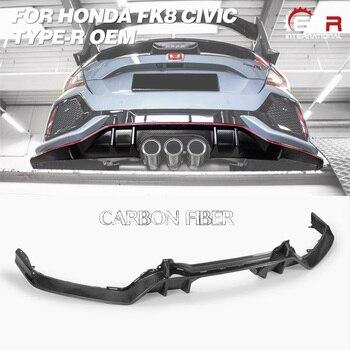 Karbon OEM Diffuser untuk FK8 Civic Type R OEM Serat Kaca/FRP Rear Diffuser Body Kit Tuning Trim untuk civic FK8 Balap Bagian