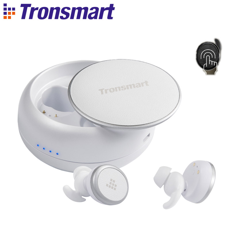 Tronsmart Corajosa Buds IPX5 TWS fone de Ouvido Sem Fio Do Fone de Ouvido Bluetooth Fones de Ouvido Sem Fio À Prova D' Água com Assistente Google, Siri