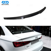 A3 8V Carbon Spoiler New M4 Style For Audi S3 Carbon Spoiler Rear Trunk Wing Sedan Car accessories 2014 2015 2016 2017 2018 2019