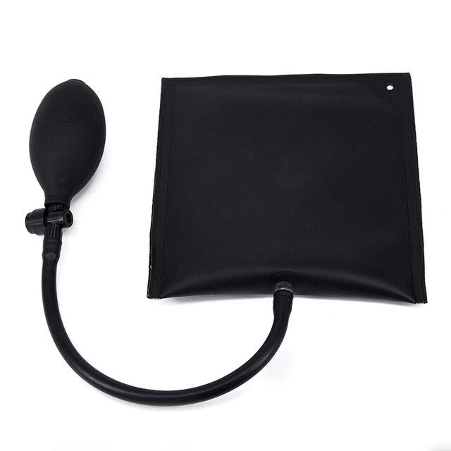 車エアバッグドアポジショニングクッション黒調節可能な交換自動