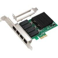 NEW Network Card 4 Port Gigabit Ethernet 10/100/1000M PCI E PCI Express to 4x Gigabit Ethernet Network Card LAN Adapter