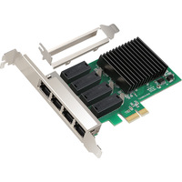 NEW Network Card 4 Port Gigabit Ethernet 10/100/1000M PCI E PCI Express to 4x Gigabit Ethernet Network Card LAN Adapter