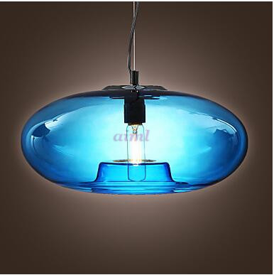 Pendant Light Modern Design Blue/Amber/Gray Glass Bulb Included 110/220V free shopping pendant lamp