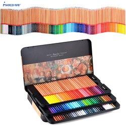 Marco 12/24/36/48/72/100/120 tłuste kredki lapices de colores na kolorowy zestaw ołówków dostaw sztuki kredki na