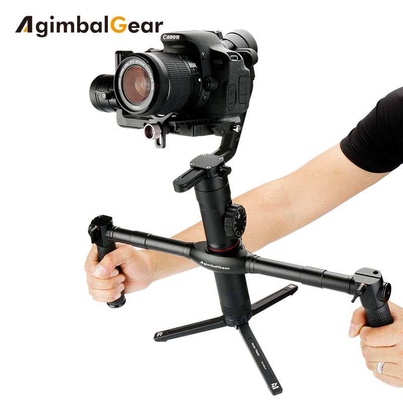 AgimbalGear Dual manija extendida para Zhiyun Crane 2 V2 M más estabilizador extendido empuñaduras vídeo Grips