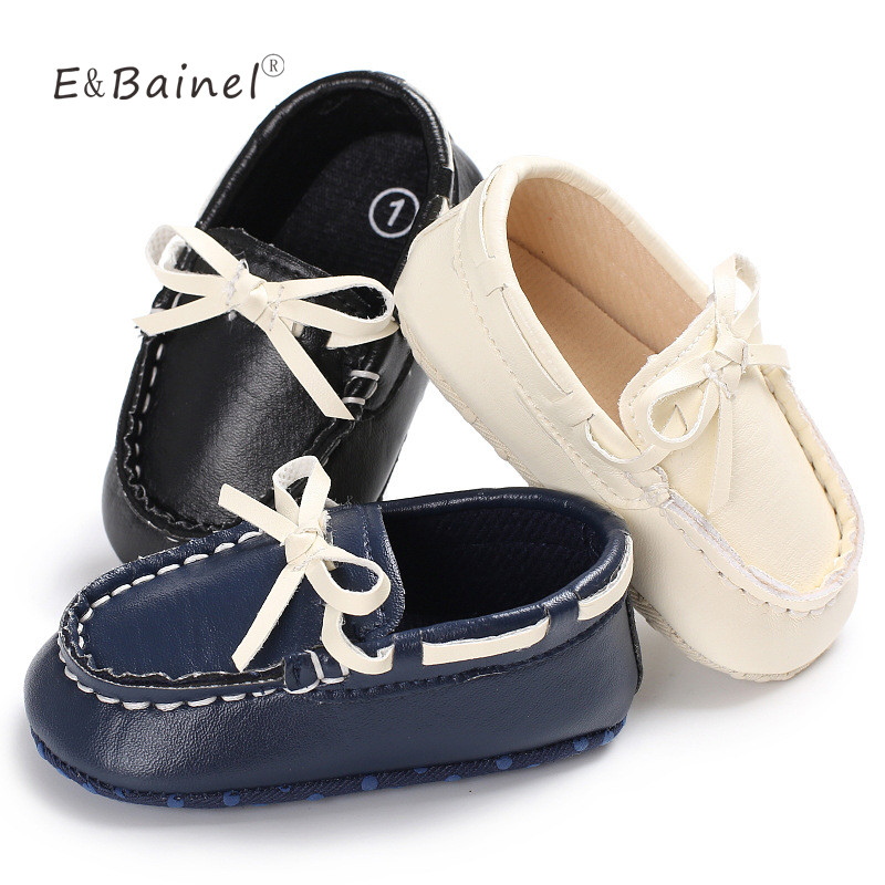 Newborn Baby Boy Girl First Walkers Baby Moccasins Shoes PU Leather Prewalkers Shoes For Kids Crib Shoes