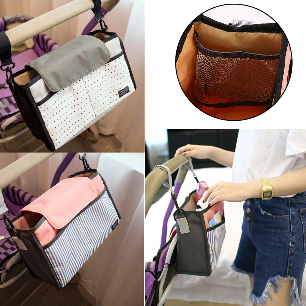 Baby Stroller Accessories Diaper Bag Large Capacity Mummy Bag Multi-function Stroller Hanging Storage Nappy Bags