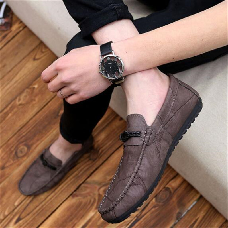 DIWEINI Casual Leather Loafer Shoes Men Soft Comfortable Driving Shoes Men Moccasins Footwear Mokasin Kasual For Men Schoenen