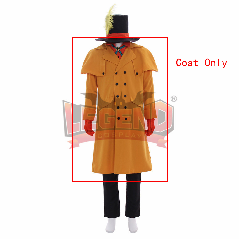 My Hero Academia Boku no Hero Akademia Mr Compress Atsuhiro Sako Cosplay Costume Long Coat Only