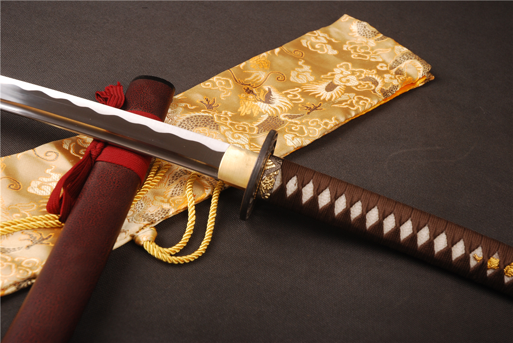 Shijian Swords Handmade Samurai Katana 1060 Carbon Steel Sharp Sword Battle Ready Full Tang Training Samurai Katana Home Decor