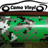 ORINO Green Digital Camouflage Vinyl Film Army Green Pixel Car Wrap Vinyl Sticker Car Boat Cover Wrapping Foil Air Bubble Free