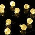 Exterior/interior Luz Impermeable 20 LED Solar Powered luces de Cadena Bola de Cristal para la Boda de Navidad de Vacaciones Jardín Año Nuevo