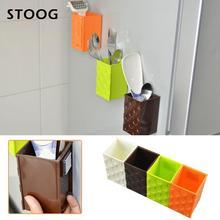 Магнитный ящик для хранения экономичный PP Кухонный Органайзер стеллаж подвесной квадратный удобный магнит для хранения на холодильник настенный тип