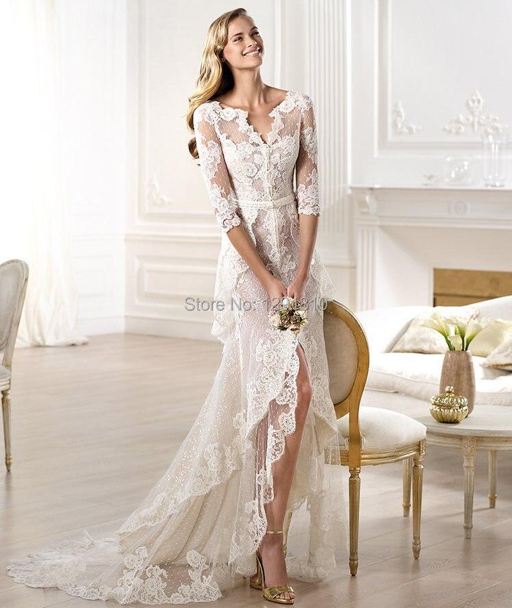Half Sleeve Beach Wedding Dresses – fashion dresses
