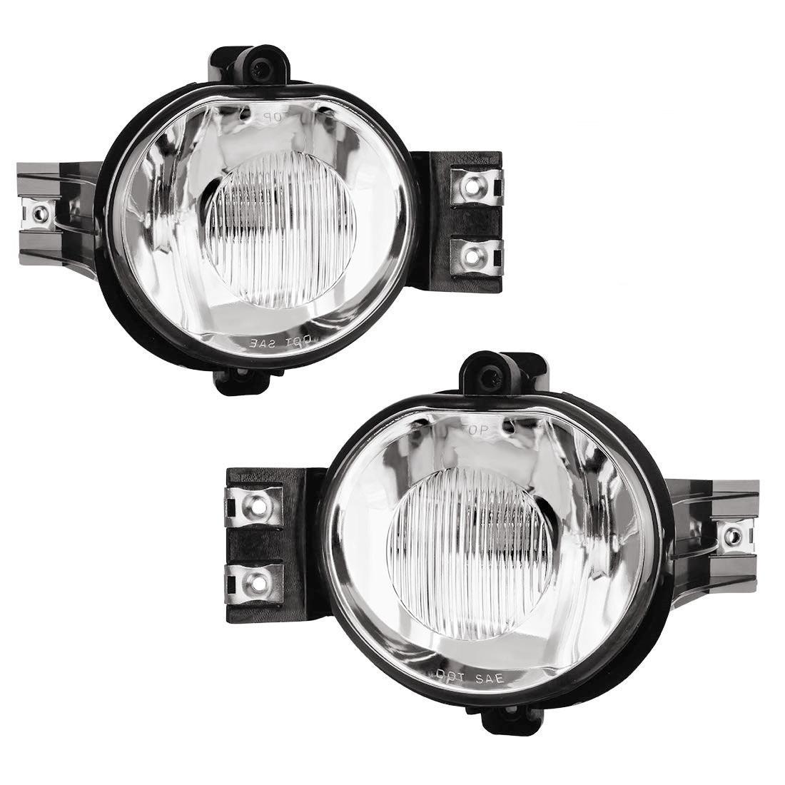 2pcs Chrome Clear Lens Bumper Driving Fog Light  For Dodge Ram Durango 2002 2003 2004 2005 2006 2007 2008 2009