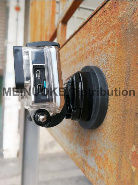 Rubber Coated Gopro Magnet Magnetic Car <font><b>Suction</b></font> <font><b>Cup</b></font> <font><b>Mount</b></font> w/ <font><b>Tripod</b></font> <font><b>Mount</b></font> for Gopro Hero / SJCAM / XIAOMIYI Action Cameras
