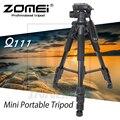 Nueva aleación de aluminio zomei q111 mini trípode portátil para cámara réflex digital profesional luz de viaje compacto soporte
