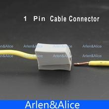 20 штук один 1 контактный кабель провод подключения Соединительный разъем для лампы