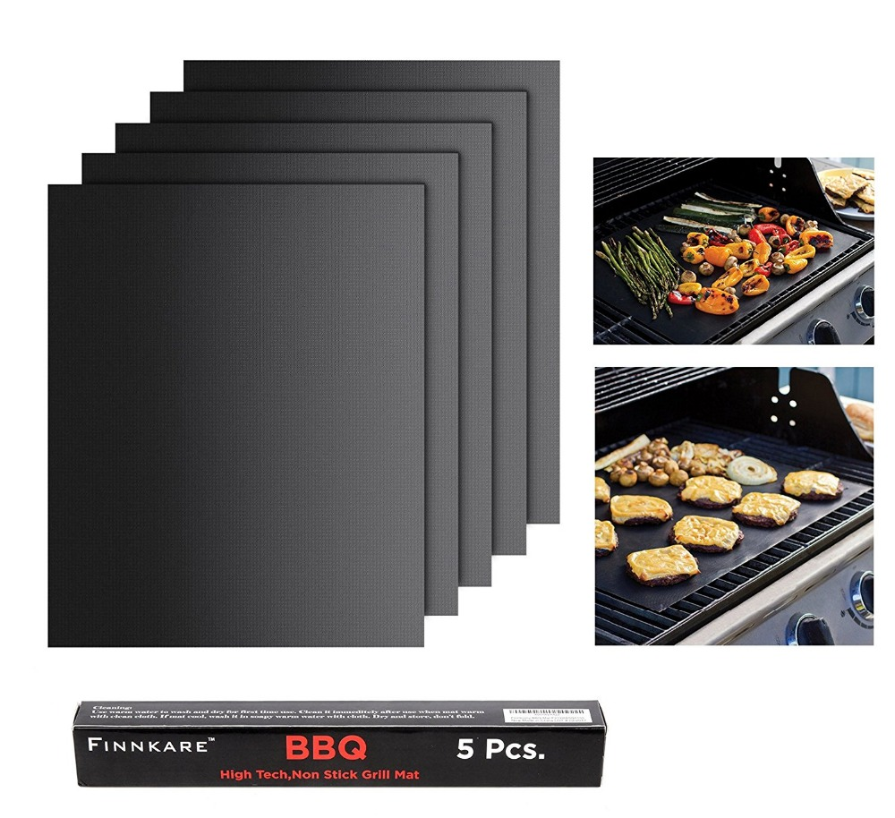 Grillling Mat As Seen On Tv Non Stick Bbq Grill For Gas Charcoal Electric Easy To Clean Reusable Reversible 382 In Baking Mats Liners