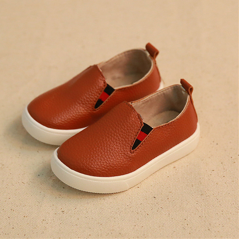 2016 new children shoes boys leather slip on baby