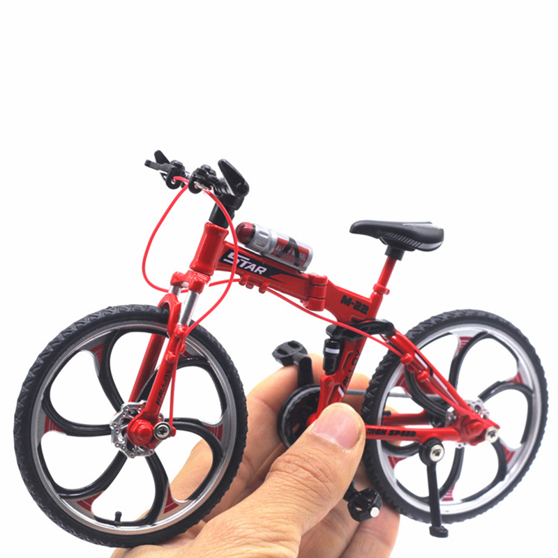 Diecast 1:10 Metal Cycling Bicycle Bike Yellow Red Model Car Metal Plastic Children'S Toys For Boys Die Cast Diecast Motorcycle