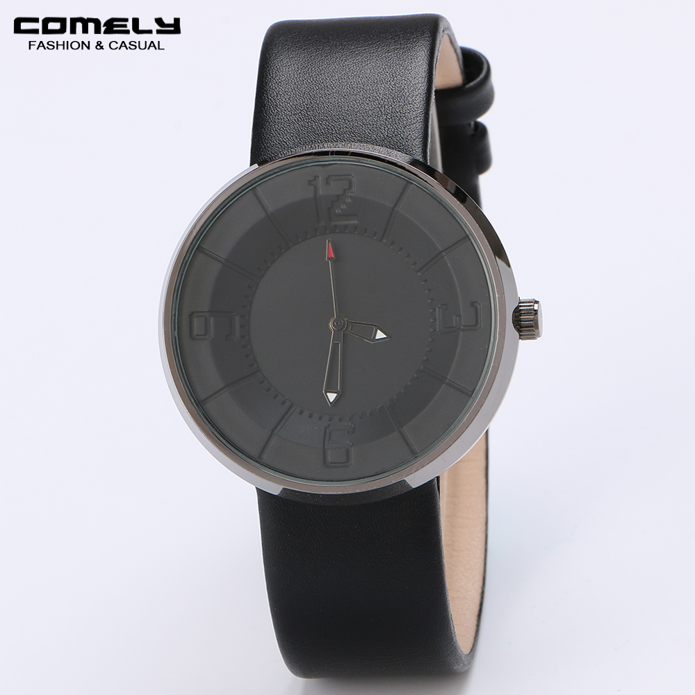 2018 New Fashion Watch for Women Luxury Casual Leather Band Round Shape Concise Classic Wristwatch for business gift