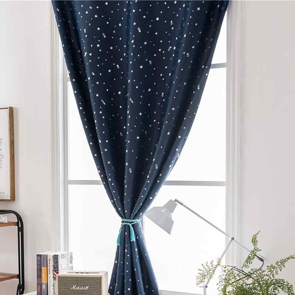 Curtain Multicolor or living room Stars Free Double Face Blackout Curtains Curtains With Holes Incredible City Designs@16