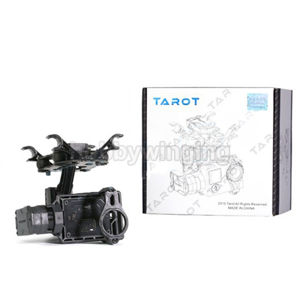 Tarot T2-2D 2-Axis Bruhsless Gimbal Camera Mount for Gopro Hero 4/3+3 walkera g 2d camera gimbal for ilook ilook gopro 3 plastic version