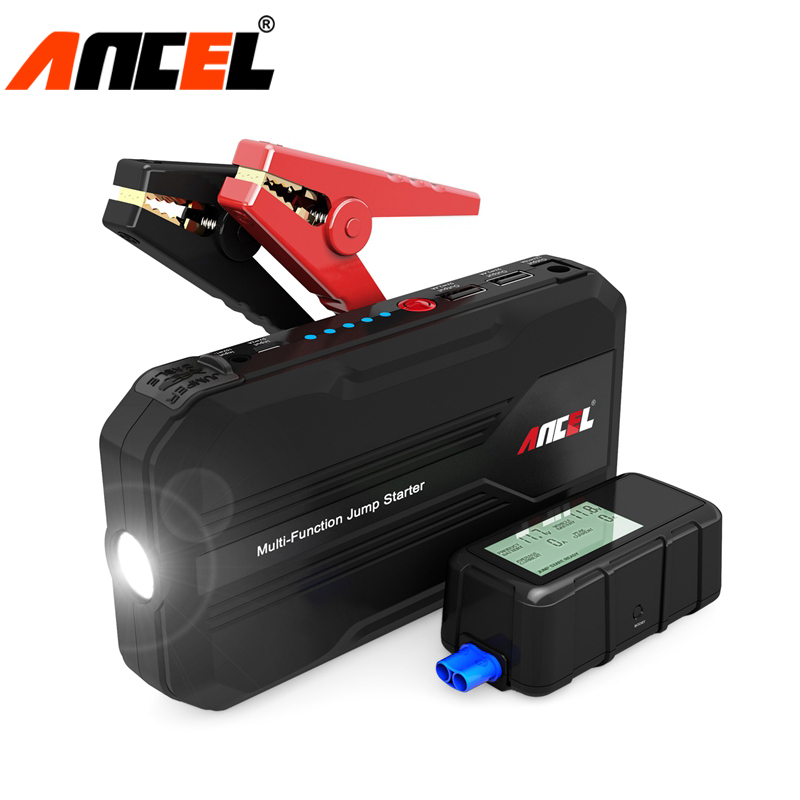 Ancel Car Jump Starter 12000mAh Portable Auto Emergency Battery Charger Booster Power Bank Mulit Function Battery Jump Starter 2017 30000mah 12vportable car jump booster led charger emergency start power bank new