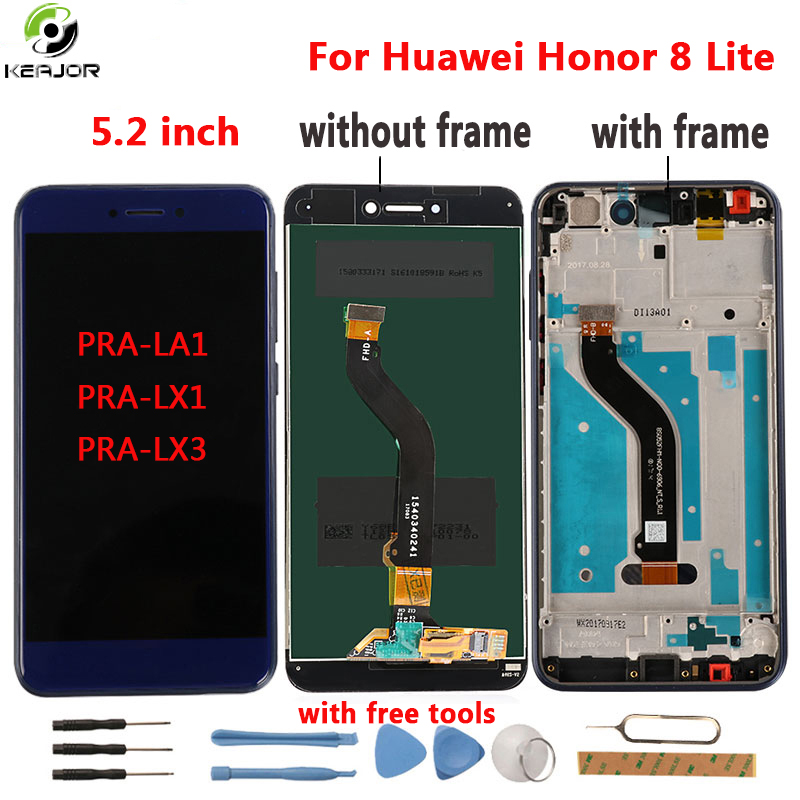 for Huawei Honor 8 Lite LCD Display+Touch Screen Tools Digitizer frame Panel For Huawei Honor 8 Lite PRA-LA1 PRA-LX1 PRA-LX3for Huawei Honor 8 Lite LCD Display+Touch Screen Tools Digitizer frame Panel For Huawei Honor 8 Lite PRA-LA1 PRA-LX1 PRA-LX3